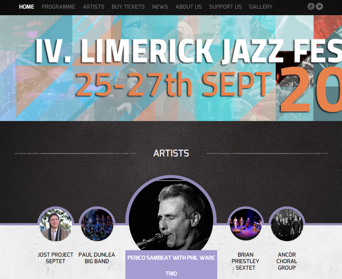 Limerick Jazz Festival Website