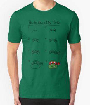 Ninja Turtle T-Shirt Design