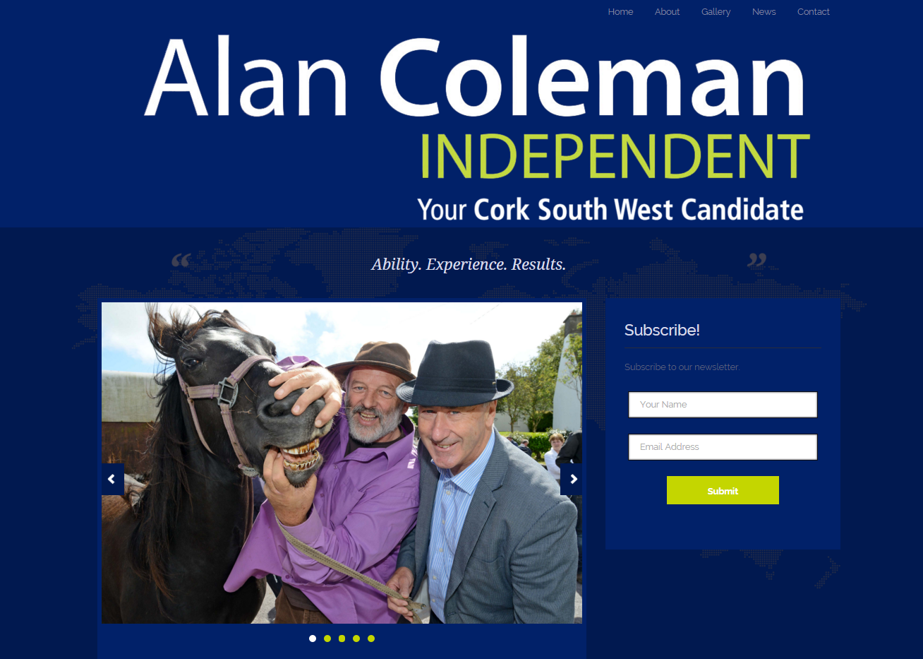 Alan Coleman Politican Website